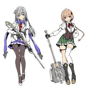 Rating: Safe Score: 14 Tags: amaete_kuru_toshiue_kyokan_ni_yashinatte_moraunoha_yarisugi_desu_ka? garter gun heels kobayashi_chisato pantyhose sketch tagme thighhighs uniform weapon User: zyll