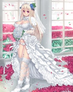 Rating: Questionable Score: 82 Tags: cleavage dress horns houtengeki pantsu stockings thighhighs wedding_dress User: Urameshiya