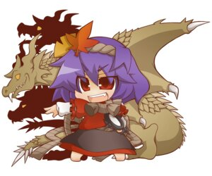 Rating: Safe Score: 4 Tags: chibi godzilla_(series) gurageida king_ghidorah touhou yasaka_kanako User: Radioactive