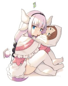Rating: Safe Score: 26 Tags: cloba dress horns kanna_kamui kobayashi-san_chi_no_maid_dragon saikawa_riko skirt_lift tail thighhighs User: Spidey
