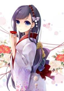 Rating: Safe Score: 17 Tags: kimono puracotte sake User: mash