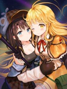 Rating: Safe Score: 33 Tags: bang_dream! cleavage okusawa_misaki symmetrical_docking tokkyu_(user_mwwe3558) tsurumaki_kokoro User: Mr_GT