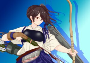 Rating: Safe Score: 5 Tags: armor japanese_clothes kaga_(kancolle) kantai_collection nitamago_(sakamalh) weapon User: Genex