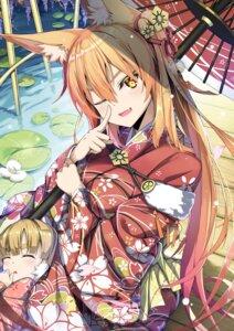 Rating: Safe Score: 53 Tags: animal_ears jie_laite kimono umbrella User: Mr_GT
