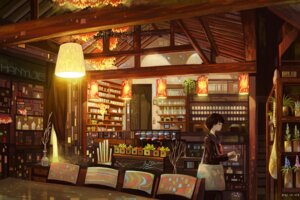 Rating: Safe Score: 34 Tags: hanyijie landscape seifuku User: Zenex