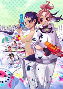 Rating: Safe Score: 6 Tags: bikini gun onsen swimsuits temoshi User: hobbito