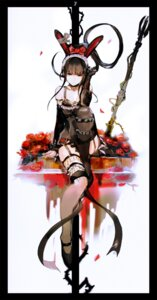 Rating: Questionable Score: 82 Tags: animal_ears bunny_ears cleavage fishnets gothic_lolita lolita_fashion narberal_gamma overlord so-bin stockings tagme thighhighs User: h71337