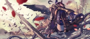 Rating: Safe Score: 51 Tags: blood fujita_(condor) heels kantai_collection sword tenryuu_(kancolle) thighhighs User: Mr_GT