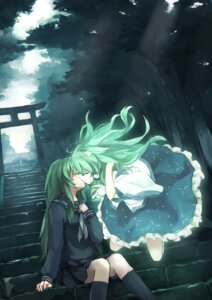 Rating: Safe Score: 38 Tags: kochiya_sanae seifuku touhou xiao_qiang yuri User: Mr_GT