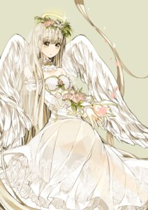 Rating: Safe Score: 36 Tags: angel dress naruto_maki see_through wedding_dress wings User: V_Phantom