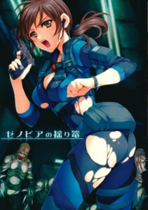 Rating: Questionable Score: 36 Tags: ass bodysuit cleavage erect_nipples gin_no_hoshitei gun jill_valentine monster resident_evil resident_evil_5 resident_evil_revelations tamiya_akito torn_clothes User: mash