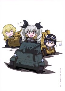 Rating: Safe Score: 17 Tags: anchovy carpaccio chibi girls_und_panzer pepperoni uniform User: drop