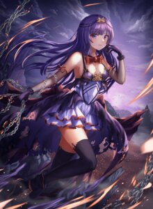 Rating: Safe Score: 60 Tags: cleavage dress heels nani_(goodrich) thighhighs torn_clothes User: AnoCold