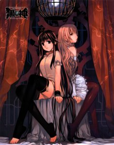 Rating: Safe Score: 15 Tags: kuro kurokami park_sung-woo sano_akane thighhighs User: Malkuth