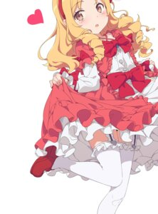 Rating: Questionable Score: 23 Tags: dress eromanga-sensei heels ogipote skirt_lift stockings thighhighs yamada_elf User: Dreista