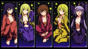 Rating: Safe Score: 81 Tags: cecilia_alcott charlotte_dunois cleavage huang_lingyin infinite_stratos kurashima_tomoyasu laura_bodewig no_bra open_shirt pajama shinonono_houki wallpaper User: bladecustom