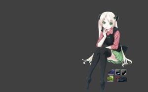 Rating: Safe Score: 30 Tags: ooji thighhighs tsukumo-tan wallpaper User: fireattack