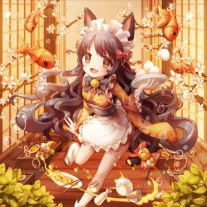Rating: Safe Score: 24 Tags: animal_ears banny maid nekomimi tail wa_maid User: tbchyu001
