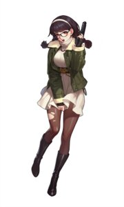 Rating: Questionable Score: 35 Tags: dress gun megane pantyhose tagme torn_clothes User: Radioactive