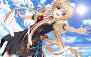Rating: Safe Score: 56 Tags: air kamio_misuzu seifuku yuzuki_karin User: Mr_GT