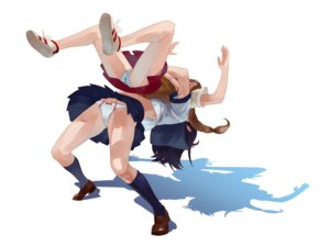 Rating: Questionable Score: 13 Tags: pantsu seifuku shimapan skirt_lift yukito User: Radioactive