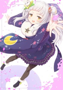 Rating: Safe Score: 17 Tags: garter hololive japanese_clothes murasaki_shion sasakura_momizi skirt_lift User: Mr_GT