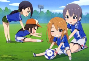 Rating: Safe Score: 14 Tags: chibi himekawa_yuki otokura_yuuki soccer takatsu_tomoko the_idolm@ster the_idolm@ster_cinderella_girls uniform yamato_aki yuuki_haru User: drop