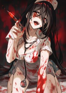 Rating: Questionable Score: 41 Tags: blood komeo15 no_bra nurse torn_clothes yandere User: Rejectors
