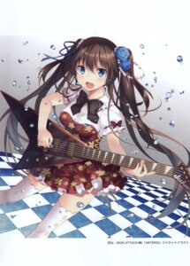 Rating: Questionable Score: 15 Tags: dress guitar tagme thighhighs User: Radioactive