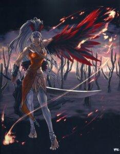 Rating: Safe Score: 8 Tags: mizusawa_hikaru sword wings User: charunetra