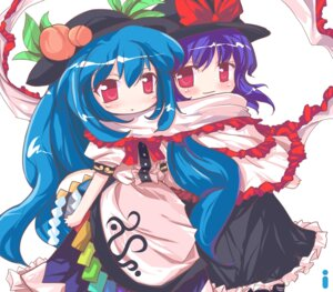 Rating: Safe Score: 9 Tags: hinanawi_tenshi ideolo nagae_iku touhou User: konstargirl