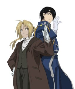 Rating: Safe Score: 11 Tags: edward_elric fullmetal_alchemist jpeg_artifacts male roy_mustang User: Lua