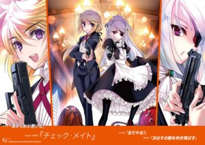 Rating: Safe Score: 10 Tags: charlotte_dunois choco crossdress eyepatch gun infinite_stratos laura_bodewig maid User: kiyoe