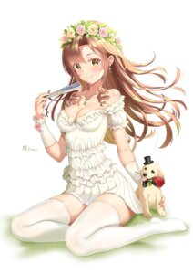 Rating: Safe Score: 36 Tags: cleavage dress ken-san no_bra summer_dress thighhighs User: Arsy