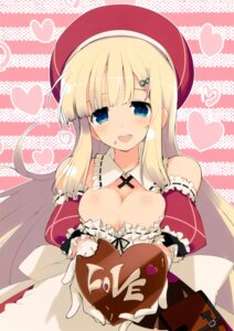 Rating: Safe Score: 43 Tags: cleavage dress senran_kagura valentine yaegashi_nan yomi_(senran_kagura) User: fireattack