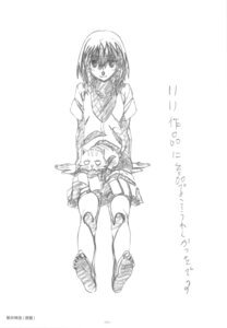 Rating: Safe Score: 5 Tags: kushieda_minori monochrome seifuku sketch toradora! User: superogira