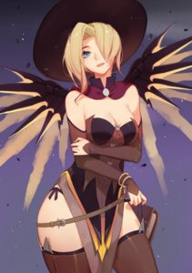 Rating: Safe Score: 25 Tags: cleavage dress mercy_(overwatch) overwatch pantsu songjikyo string_panties thighhighs wings witch User: charunetra