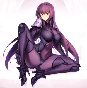 Rating: Questionable Score: 75 Tags: bodysuit cameltoe erect_nipples fate/grand_order heels no_bra ore-halcon scathach_(fate/grand_order) thighhighs User: mash