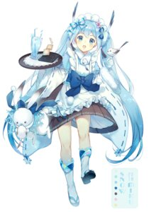 Rating: Safe Score: 40 Tags: ekita_gen hatsune_miku maid vocaloid wa_maid yuki_miku User: Mr_GT