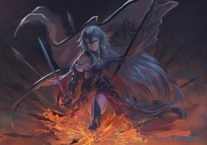 Rating: Questionable Score: 38 Tags: armor cleavage fate/grand_order jeanne_d'arc jeanne_d'arc_(alter)_(fate) sword thighhighs ushas User: lostmemory