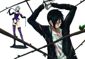 Rating: Questionable Score: 11 Tags: blood bondage kuroshitsuji sebastian_michaelis torn_clothes User: Radioactive