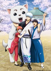 Rating: Safe Score: 7 Tags: animal_ears asian_clothes gintama japanese_clothes kagura megane sadaharu sakata_gintoki shimura_shinpachi sword tagme tail User: saemonnokami