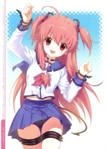 Rating: Questionable Score: 52 Tags: angel_beats! dmyo garter pantsu seifuku snow_ring yui_(angel_beats!) User: fireattack