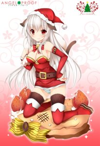 Rating: Safe Score: 55 Tags: animal_ears christmas cleavage duji_amo nekomimi pantsu shimapan tail thighhighs User: Radioactive