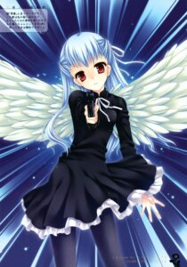 Rating: Safe Score: 19 Tags: angelos_armas dress gun pantyhose tatekawa_mako wings wnb User: petopeto