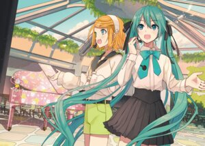 Rating: Safe Score: 21 Tags: hatsune_miku ixima kagamine_rin sweater vocaloid User: saemonnokami