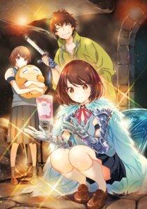 Rating: Safe Score: 11 Tags: armor hosoi_mieko seifuku sweater sword User: saemonnokami
