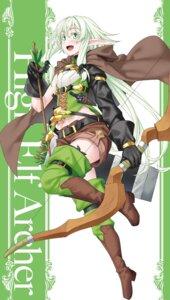 Rating: Safe Score: 29 Tags: elf goblin_slayer heels high_elf_archer kannatsuki_noboru pointy_ears thighhighs weapon User: paomao