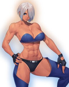 Rating: Questionable Score: 16 Tags: angel_(kof) bra cleavage king_of_fighters ogami pantsu User: Genex