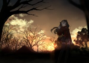 Rating: Safe Score: 39 Tags: bou_shaku fate/stay_night landscape thighhighs toosaka_rin User: charunetra